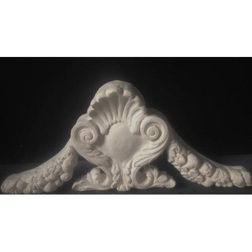 Plaster Cartouche with extended decoration